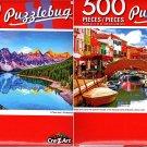 Maraine Lake, Banff, Canada - Bridge and Canal   - 500 Piece Jigsaw Puzzle (Set of 2)