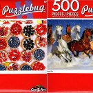 Blizzard Run - Fruit and Berry Tartiets Dessert Tray - 500 Piece Jigsaw Puzzle (Set of 2)