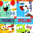 First Grade Educational Workbooks - Good Grades - Set of 4 Books - v6