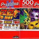Cra-Z-Art Colorful Masks - Red Hot Machine - 500 Piece Jigsaw Puzzle (Set of 2)