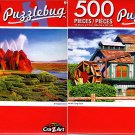 Cra-Z-Art Fly Geyser, Nevada - Water Mill, Long Grove - 500 Piece Jigsaw Puzzle (Set of 2)
