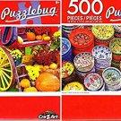 Turkish Ceramics on The Market - Autumn Harvest Vermont - 500 Piece Jigsaw Puzzle (Set of 2)