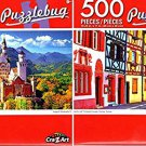 Colorful Half Timbered Houses, Colmar, France - Neuschwanstein Castle - 500 Piece (Set of 2)
