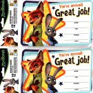 ZooTopia Teacher Recognition Awards 12 (8 x 5 Awards) - (Bundle - 2 Packs)