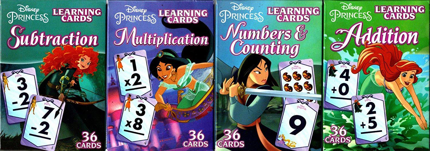 LPF Princess Learning Educational Flash Cards ( Set of 4 Decks)
