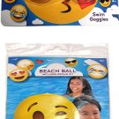 What Kids Want Swim Goggles & Beach Ball - Includes Repair Kit - Swim Time Fun! - (2 Pack)