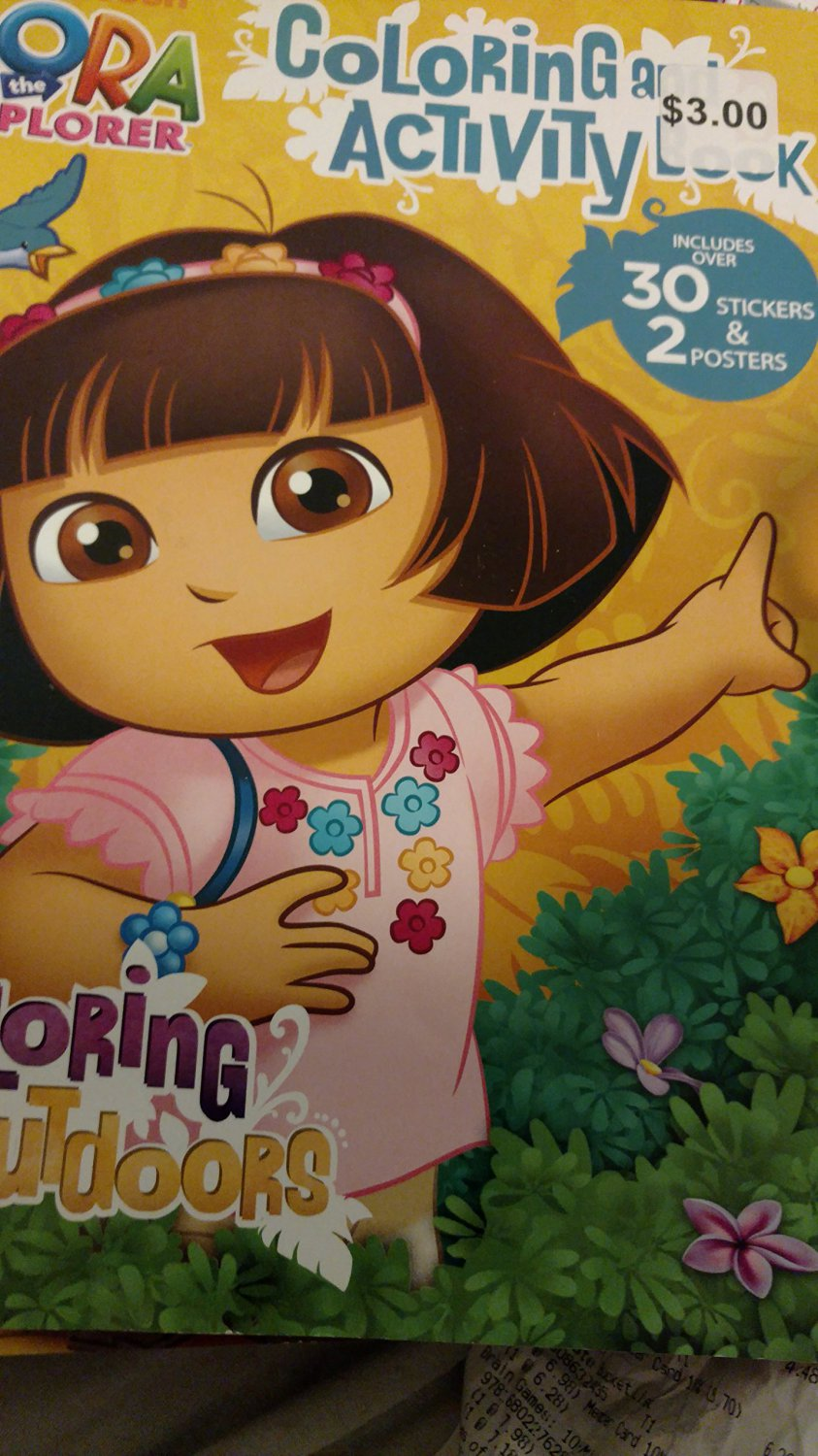Dora the Explorer Coloring & Activity Book Exploring Outfoors (Includes 30 Stickers & 2 Posters)