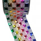 (Pack of 2) Multicolored Diamond Sparkling Mesh Ribbon for Event Decorations, Wedding Cake.
