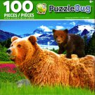 Cra-Z-Art Grizzly Cub and Mom - Puzzlebug - 100 Piece Jigsaw Puzzle