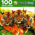 Cra-Z-Art Three Sumartran Tiger Cubs - Puzzlebug - 100 Piece Jigsaw Puzzle