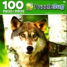 Cra-Z-Art Grey Wolf ( Canis Lupus) - Puzzlebug - 100 Piece Jigsaw Puzzle