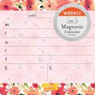 2019 Avalon Magnetic Weekly Calendar, Watercolor Florals by Sara B (80559)