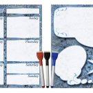 (Set with 5 Items) - Weekly Magnetic Calendar + Message Board + 3 magnetic dry erase marker v3