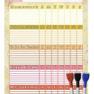 (Set with 4 Items) - My to do List/Planner/Progress Charts) + 3 Magnetic Dry Erase Marker v2