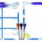 (Set with 5 Items) - Weekly Magnetic Dry Erase Calendar Planner Organizer - v7