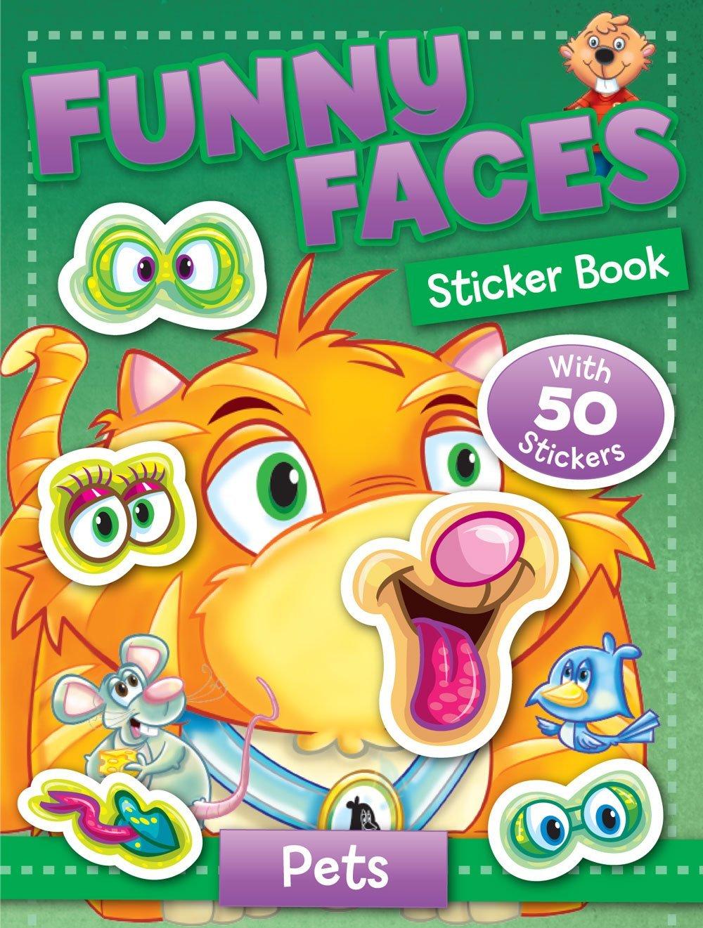 Funny Faces Sticker Book: Pets (Funny Faces Sticker Books)
