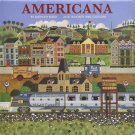 "Americana by Anthony Kleem 2019 Wall Calendar 16 Months 11"" X 22"""
