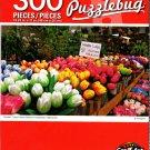 Cra-Z-Art Wooden Tulips Flower Market in Amsterdam, Neterlands - 300 Pieces Jigsaw Puzzle