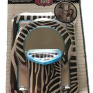 Locker Accessory Set, Magnetic Mirror, Pencil Holder & Dry Erase Board (Zebra Print)