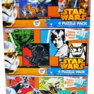 12 Star Wars Puzzles for Kids Ages 6+ 100 Pieces Bundle of 3 - 4 Puzzle Packs