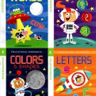 Educational Workbooks Kindergarten - Set of 4 Books - v10