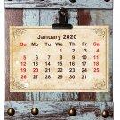 2019-2020 16 Months Wall Calendar + Fashion Frame Board (Edition #1)