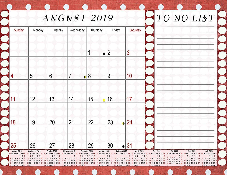 2019-2020 Academic Year 12 Months Student Calendar/Planner - (Edition #1)