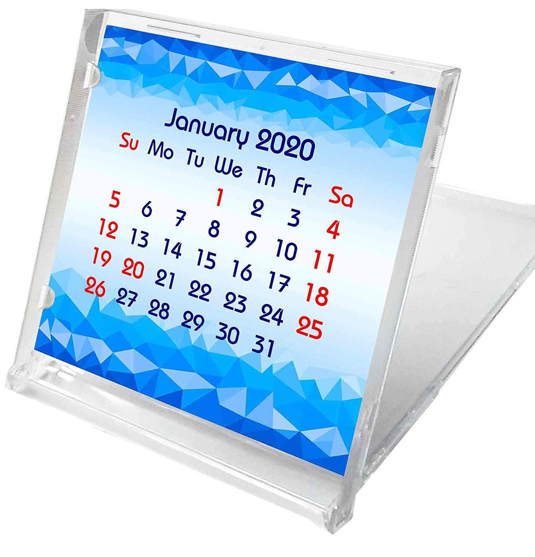 2019-2020 CD-Style Desk Calendar 16 Months Calendar/Planner / (Edition #4)
