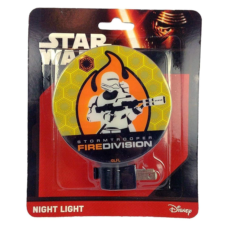 Disney Star Wars Boys Night Light Kids Bedroom Home Decor - Fire Division