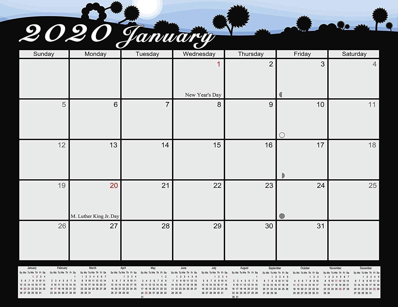 2020 Monthly Magnetic/Desk Calendar - 12 Months Desktop/Wall Calendar/Planner - (Edition #03)