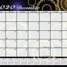 2020 Monthly Magnetic/Desk Calendar - 12 Months Desktop/Wall Calendar/Planner - (Edition #04)