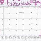 2020 Monthly Magnetic/Desk Calendar - 12 Months Desktop/Wall Calendar/Planner - (Edition #05)