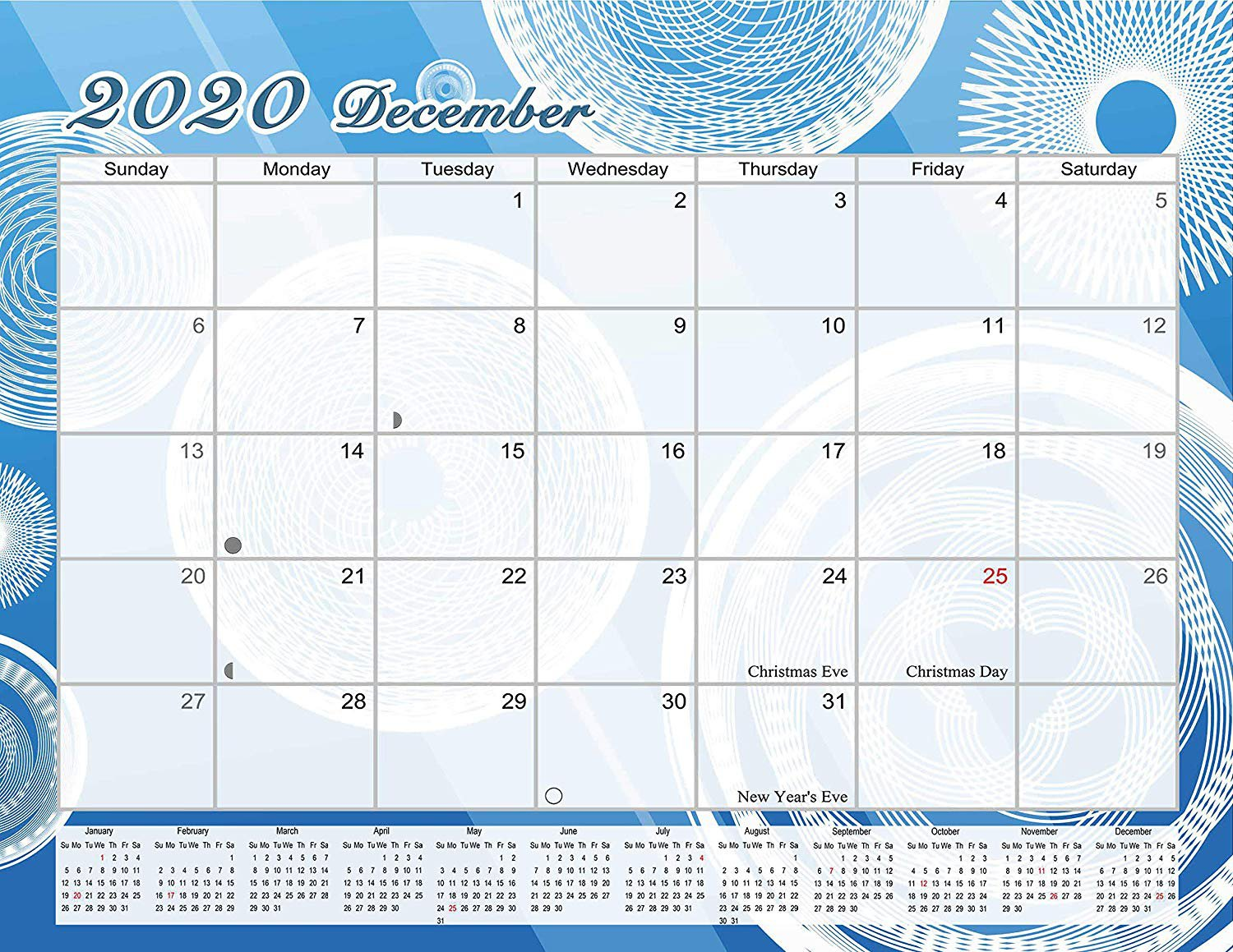 2020 Monthly Magnetic/Desk Calendar - 12 Months Desktop/Wall Calendar/Planner - (Edition #08)