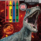 Bendon Coloring and Activity Book with Crayons, Jurassic World Fallen Kingdom