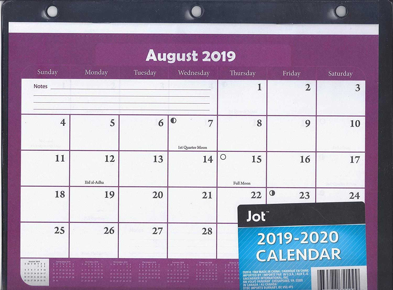 2019-2020 Student Calendar/Planner - 3 Ring Binder Calendar (Purple/Black)