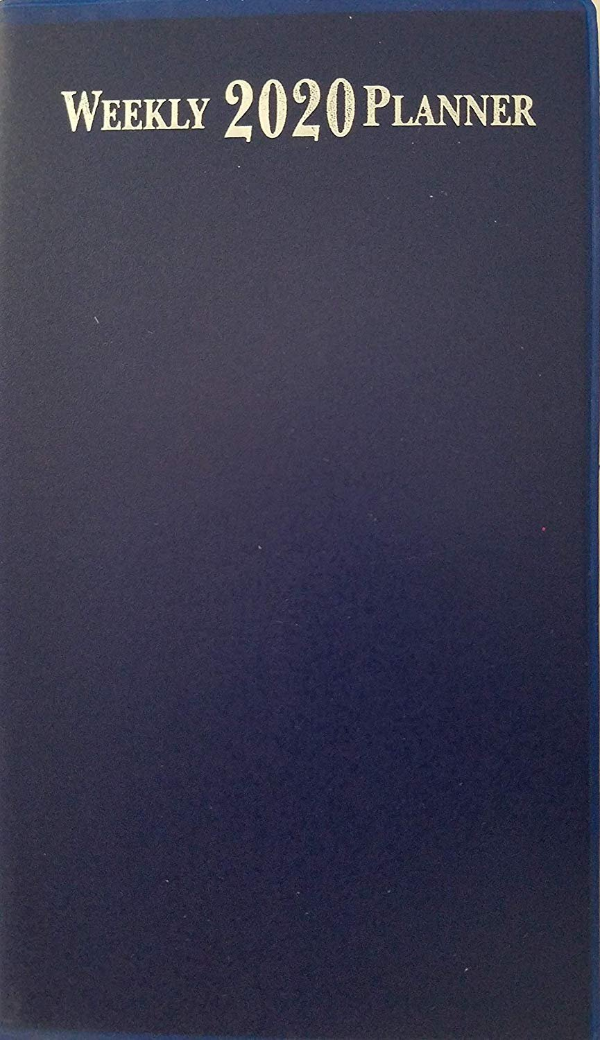 """2020 Weekly Pocket Appointment Planner Day-Timer 6.5"""" x 3.75"""", Select: Color (Blue)"""