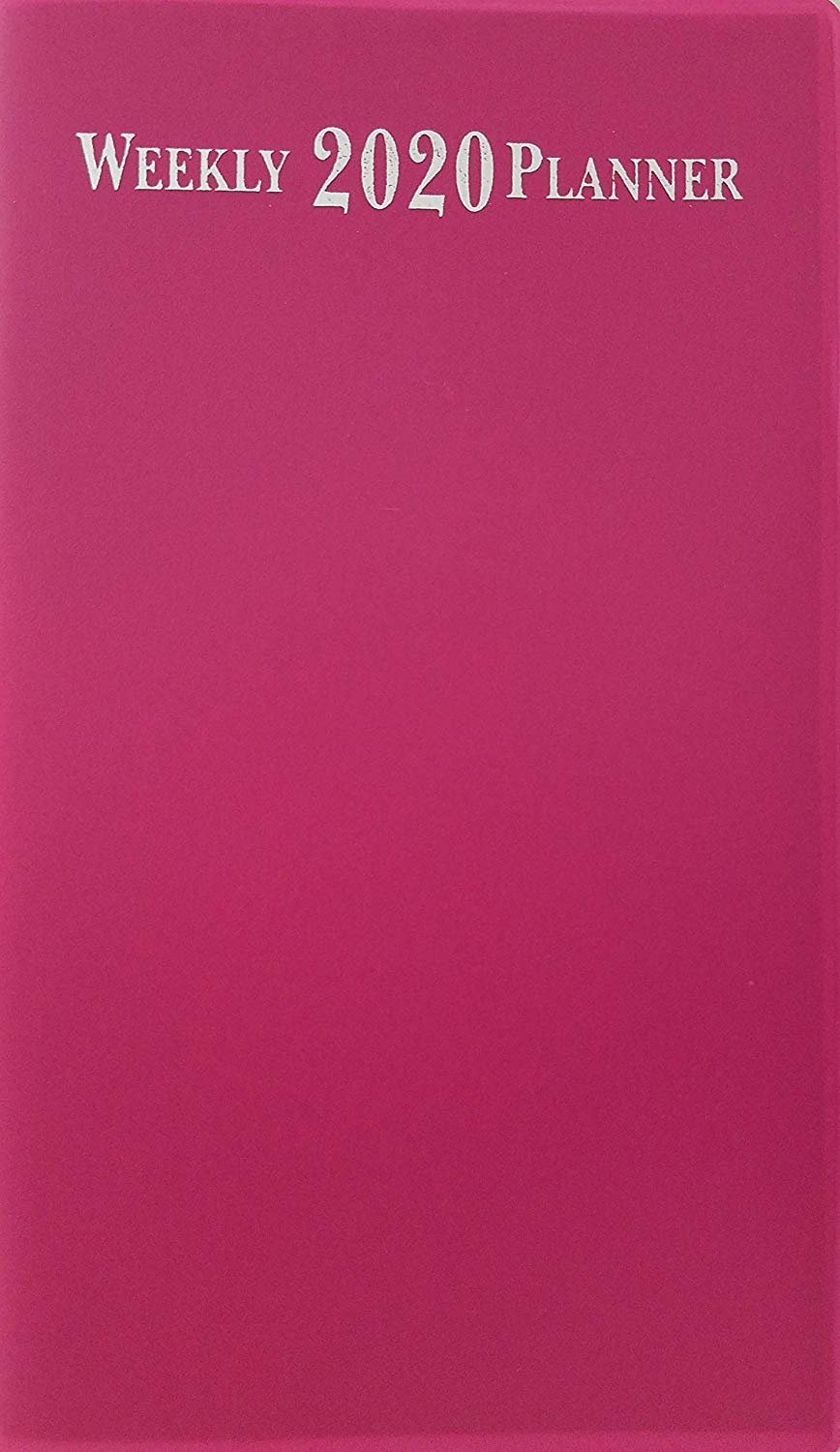 """2020 Weekly Pocket Appointment Planner Day-Timer 6.5"""" x 3.75"""", Select: Color (Pink)"""