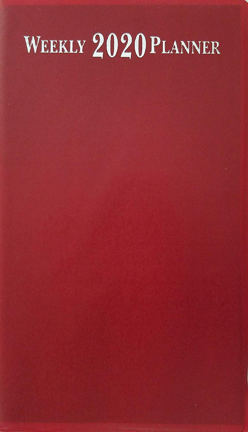 """2020 Weekly Pocket Appointment Planner Day-Timer 6.5"""" x 3.75"""", Select: Color (Red)"""