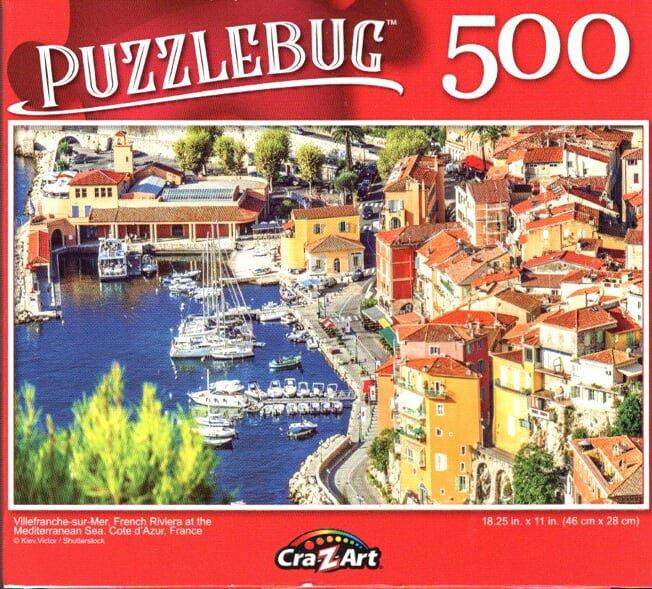Villefranche - sur - Mer, Frech Riviera at The Mediterranean Sea - 500 Piece Jigsaw Puzzle
