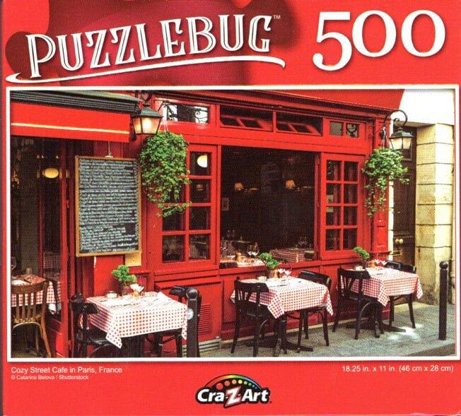 Cra-Z-Art Cozy Street Cafe in Paris, France - 500 Piece Jigsaw Puzzle - Puzzlebug