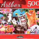 Playtime in The Garden by Vivienne Chanelle - 500 Piece Jigsaw Puzzle