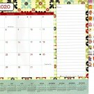 2020 Monthly Calendar - 12 Months Desktop/Wall Calendar/Planner + Bonus 100 Stickers (Edition #1)