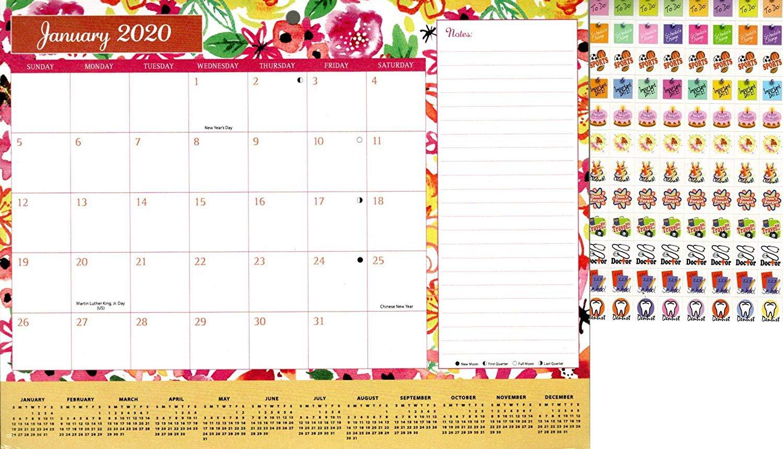 2020 Monthly Calendar - 12 Months Desktop/Wall Calendar/Planner + Bonus 100 Stickers (Edition #2)