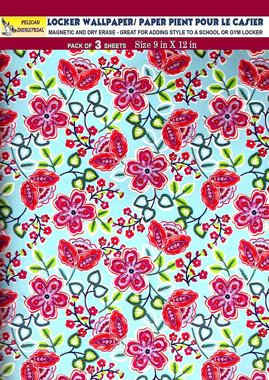 Magnetic Locker Wallpaper (Full Sheet Magnetic) - Flowers - Pack of 3 Sheets - v27b
