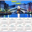 2020 Magnetic Calendar - Calendar Magnets - Today is my Lucky Day -Nightlife on the Canal