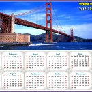 2020 Magnetic Calendar - Calendar Magnets - Today is my Lucky Day - Golden Gate Bridge