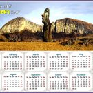 2020 Magnetic Calendar - Calendar Magnets - Today is my Lucky Day (Easter Island Beauty)