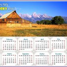 2020 Magnetic Calendar - Calendar Magnets - Today is my Lucky Day (Grand Tetons and Old Barn)