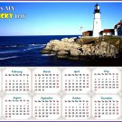 2020 Magnetic Calendar - Calendar Magnets - Today is my Lucky Day - (Portland lighthouse view)