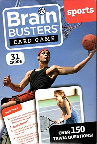 Brain Busters Card Game - Sports - with Over 150 Trivia Questions - Educational Flash Cards